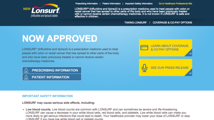 Now Approved Homepage for Patients