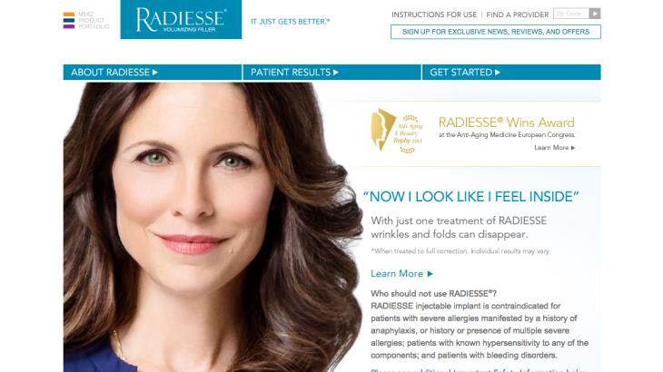 Radiesse Patient Site