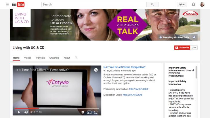 Pharma on Youtube: Entyvio