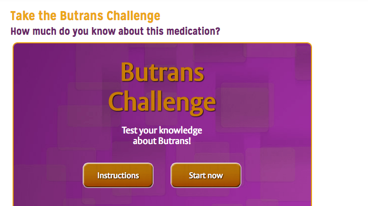 HCP Pharma Quiz/Assessment from Butrans