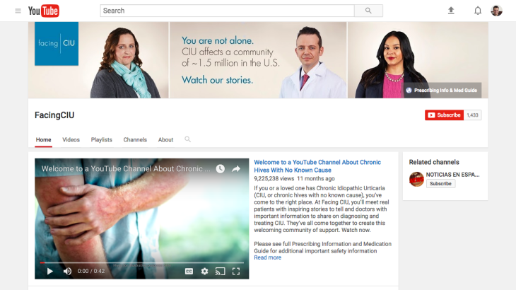 Lightly Branded Pharma Youtube Ad Campaign