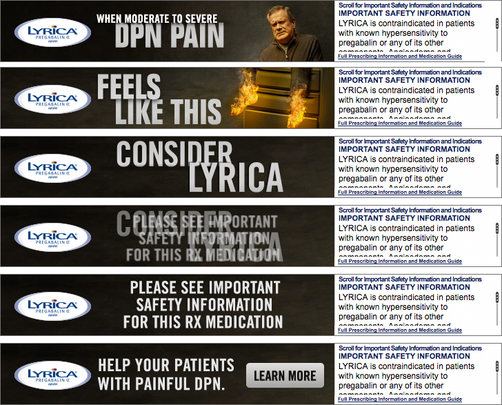 Lyrica HCP Banner Ads for DPN Indication | Once Daily Pharma