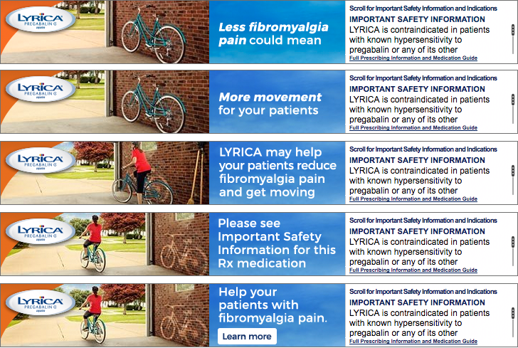Lyrica HCP Banner Ads for Fibromyalgia Indication   Once