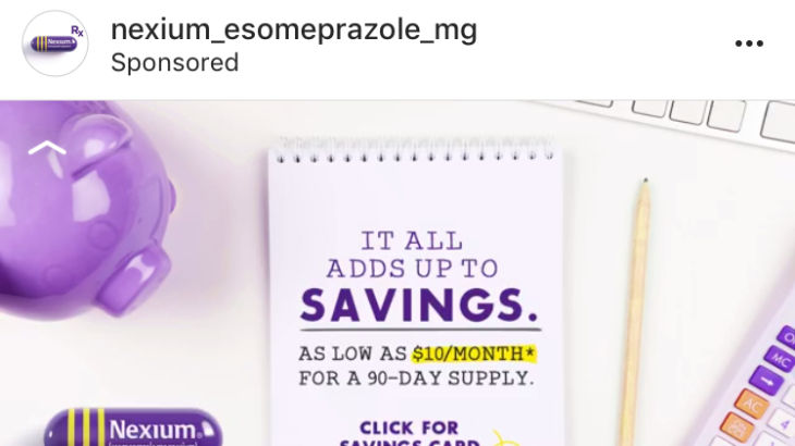 Pharmaceutical Instagram Ad