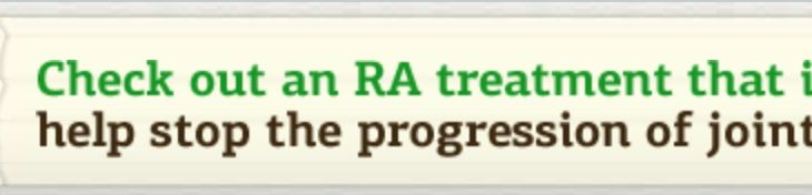 Unbranded Enbrel Banner Ad for RA Indication