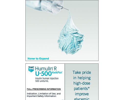 Insulin Expandable Banner Ad for Doctors/HCPs