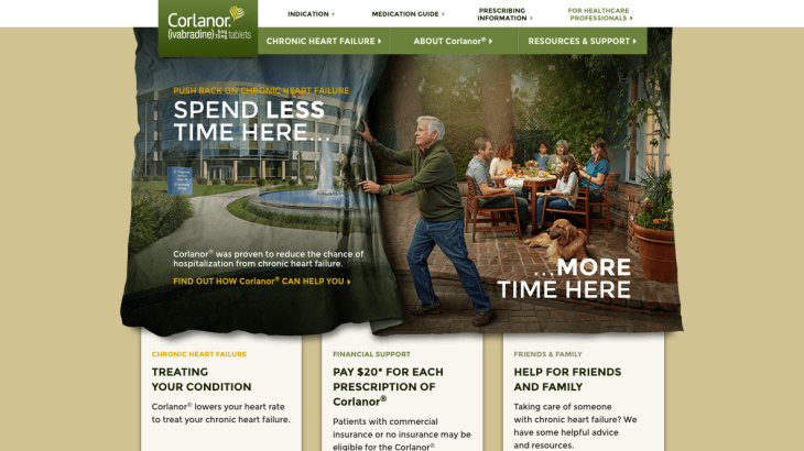 Corlanor Launch Website for Patients