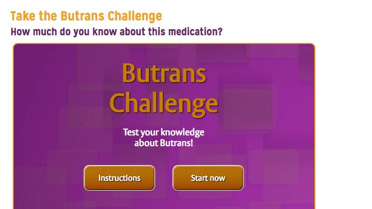 HCP Pharma Quiz/Assessment from Butrans