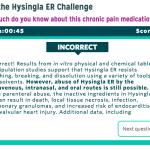 Hysingla ER HCP Quiz/Trivia