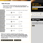 Unbranded Patient Self-assessment Quiz for Pain, Ankylosing Spondylitis (AS)