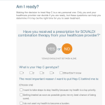 Sovaldi Patient Assessment Questionnare - Pharma Interactive Website Feature