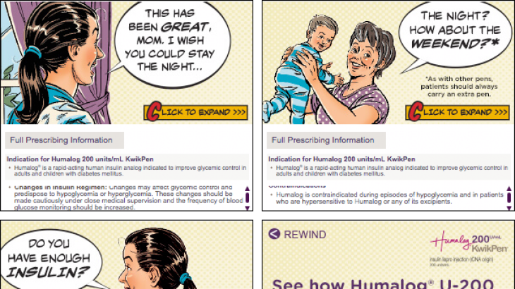 Pharma banner ad with expanded frame/state - Humalog