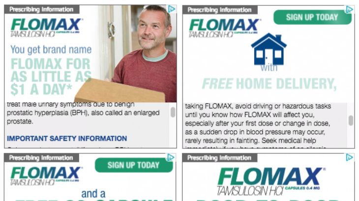 Flomax banner ads for pharmaceutical company home delivery