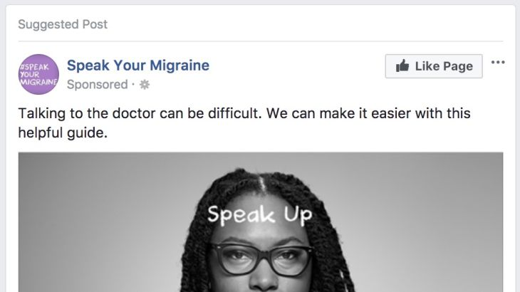 Unbranded Pharmaceutical Facebook Ad