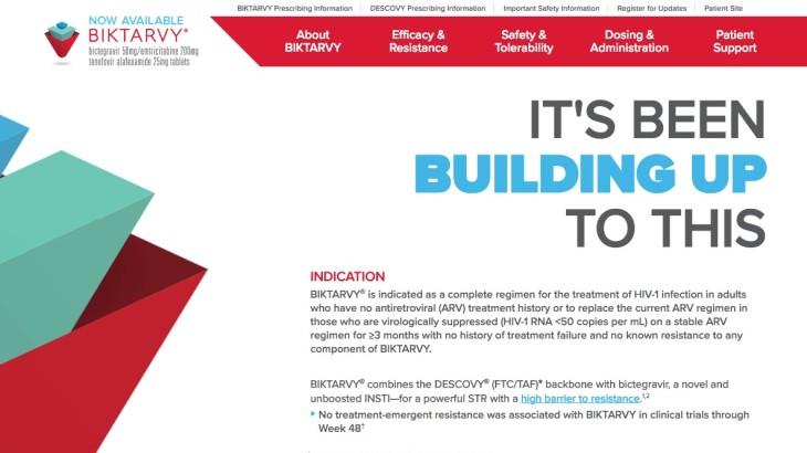 Biktarvy Screenshots - Now Available HCP SIte - Homepage