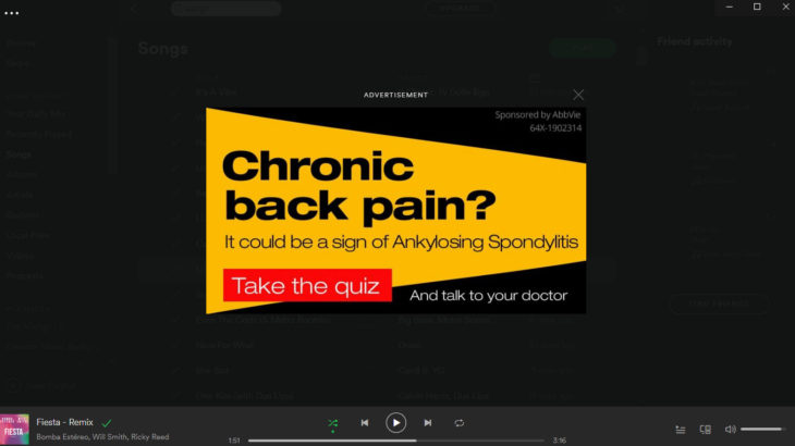 Pharma Ad Within Spotify - Unbranded Campaign from Abbvie