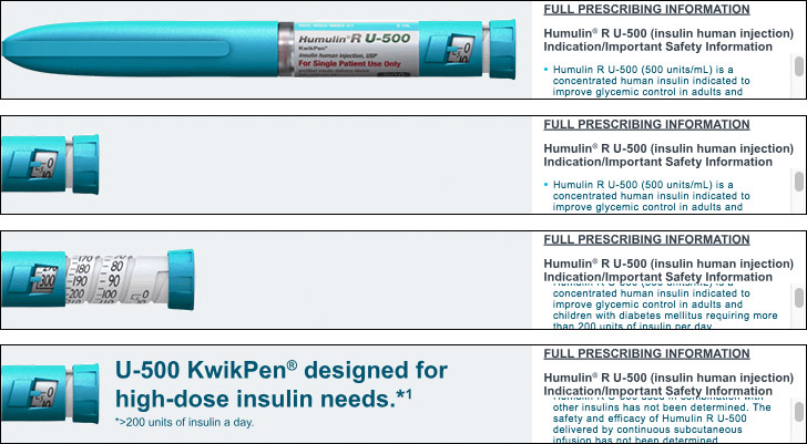 High-dose insuling Humura R KwinPen Banner ad